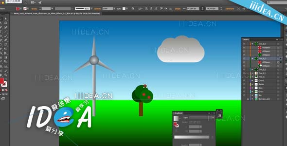 bring updatable artwork from adobe illustrator to adobe after effects 02 - AE与AI的工作流程教学from Illustrator to Adobe After Effects