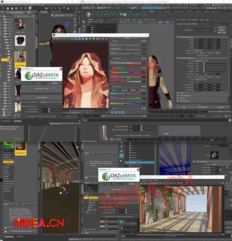 DazToMaya 01 - DazToMaya v1.2 - DazStudio转换到Maya为作品优化及渲染插件