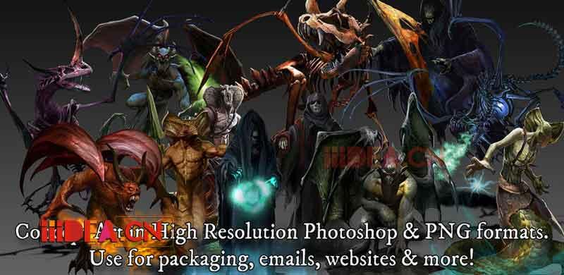 PBR Monster Pack 3 03 - PBR Monster Pack 3 v1.0 - Unity四个生物角色模型包