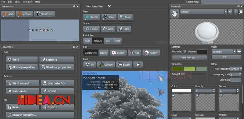 SpeedTree Cinema - 树木模拟软件:SpeedTree Modeler v8.2.1 Cinema Edition x64